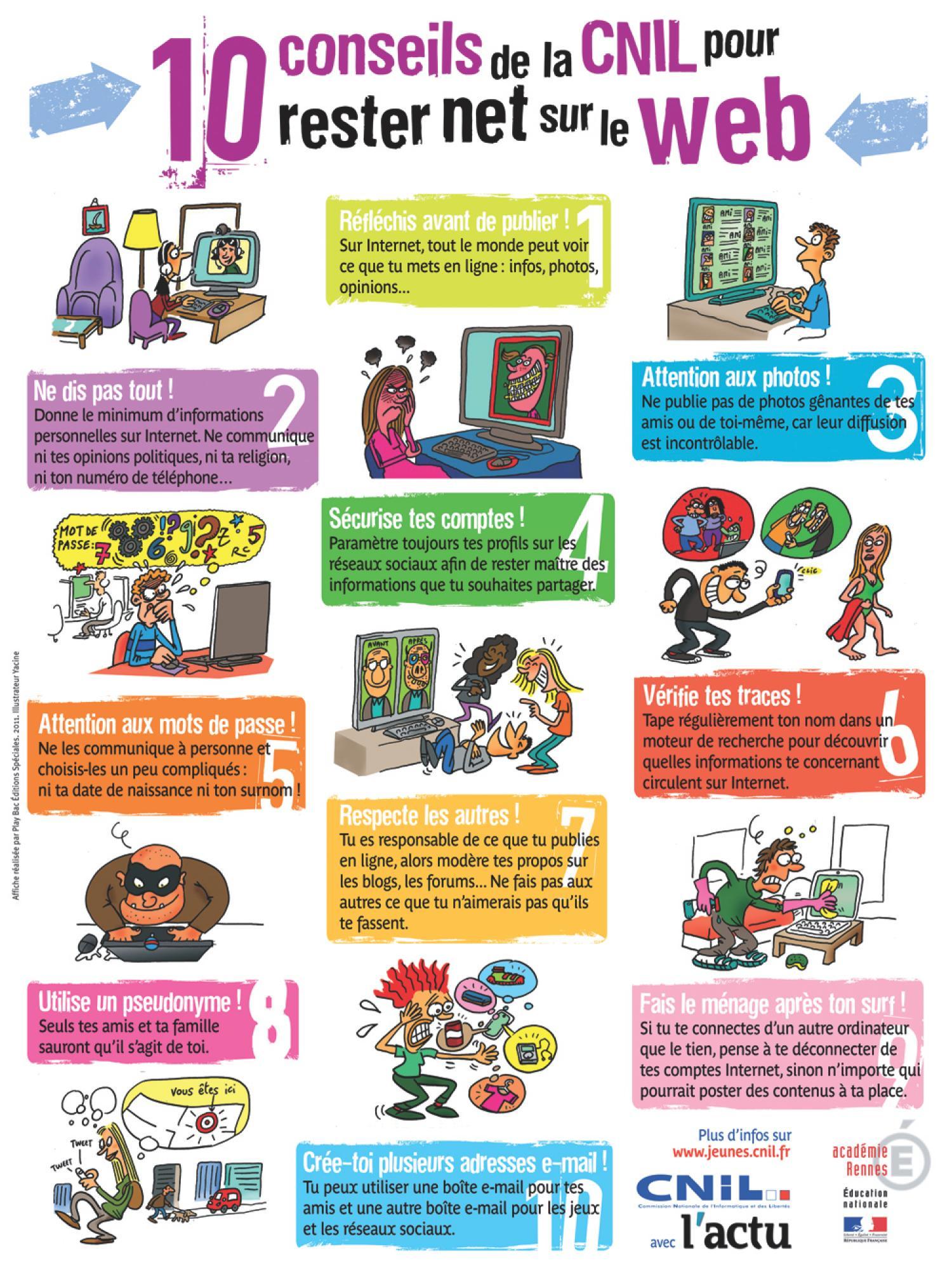 Sensibilisation un usage responsable de l 39 internet for Le site internet